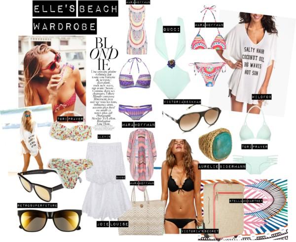 Elle's beach wardrobe