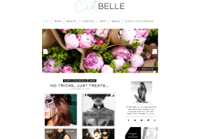 C'est Belle has gone all pretty & moved…